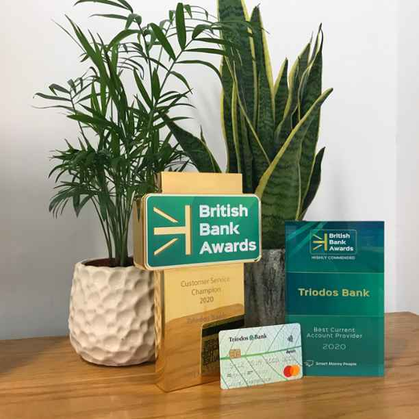 Triodos wins at British Bank Awards 2020
