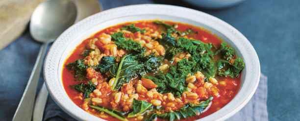 Recipe: Riverford's kale, spelt & chorizo 'big soup'