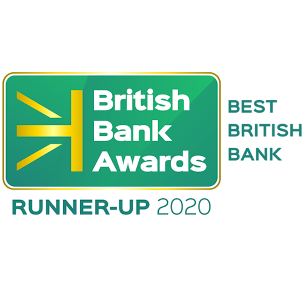 British Bank Awards Best British Bank Runner up 2020