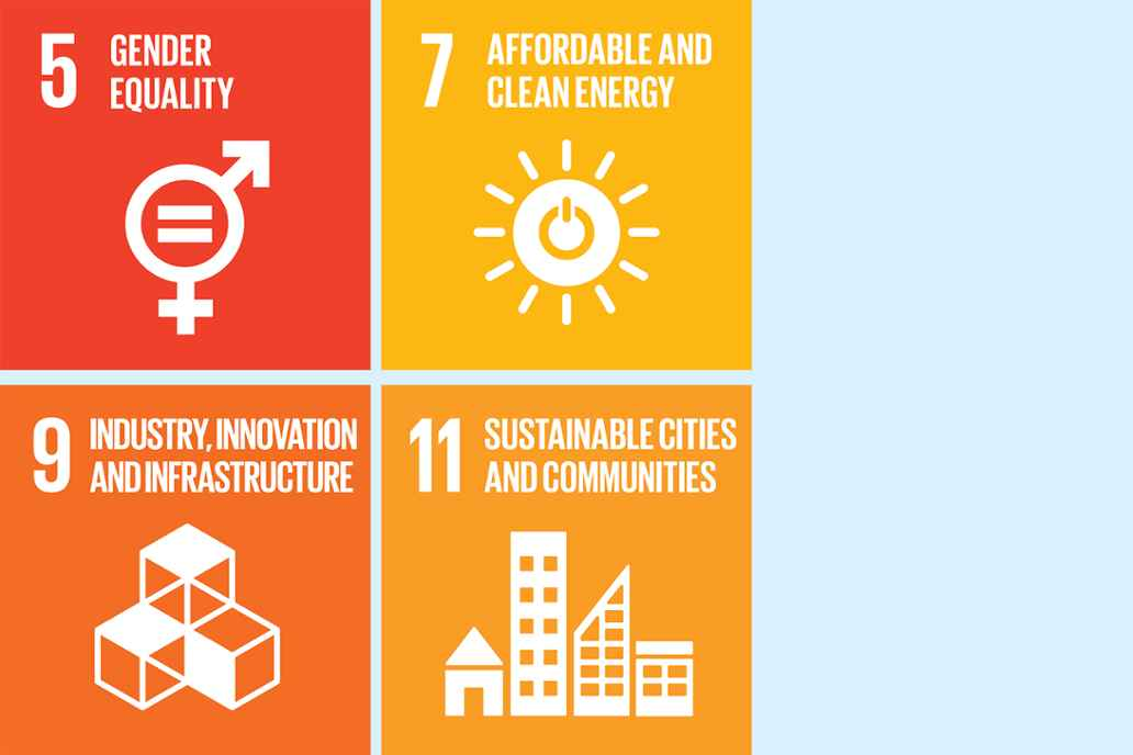 6. Clean water and sanitation 7. Afforable and clean energy 9. Industry, innovation and infostructure 11. Sustainable cities and communities